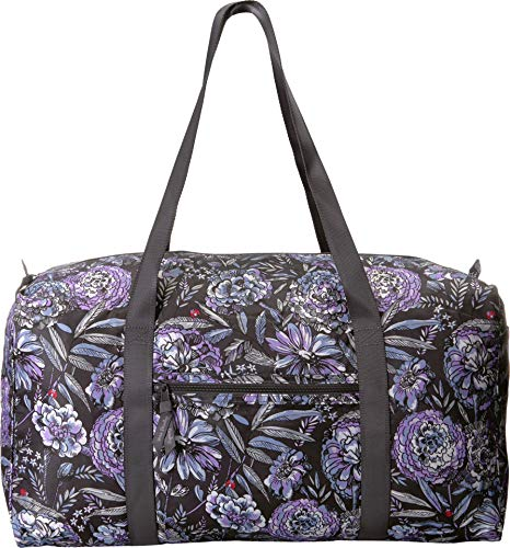 Vera Bradley Women's Packable Duffel Bag Lavender Bouquet One Size