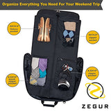 ZEGUR Suit Carry On Garment Bag for Travel & Business Trips With Shoulder Strap (Black)