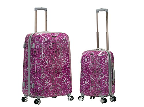 Rockland 2 Pc Polycarbonate/Abs Upright Luggage Set, Bandana