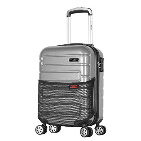 "Olympia Nema 18"" Carry-on Underseater Spinner W/TSA Lock, Silver"