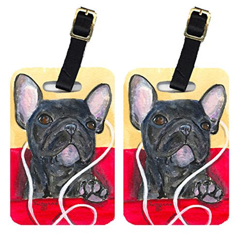 Carolines Treasures Ss8899Bt French Bulldog Luggage Tag - Pair 2, 4 X 2.75 In.