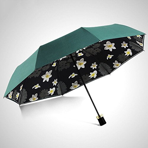 HOMEE Double layer of vinyl can be folded sun umbrella sun umbrella rain and rain umbrella uv