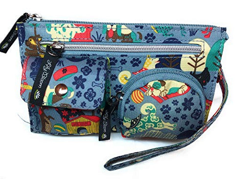 Lily Bloom Who Let the Dogs out Kim Wristlet | 7.5 X 4.5 IN