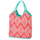 Viv&Lou By Wholesale Boutique Beach Bag Pool Tote Carry All Collection (Blank, Coral Cove)
