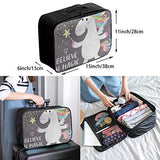 Travel Bags Cute Magical White Unicorn Star Portable Handbag Designer Trolley Handle Luggage Bag