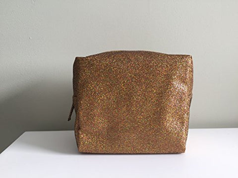 SAKS Bronze Speclked Cosmetic Case