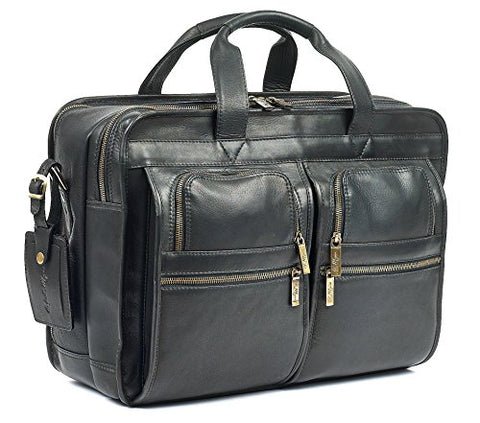 Robert Myers Classic Executive Briefcase Black