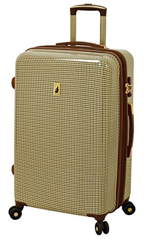 "London Fog Cambridge 25"" Expandable Hardside Spinner, Olive Plaid"