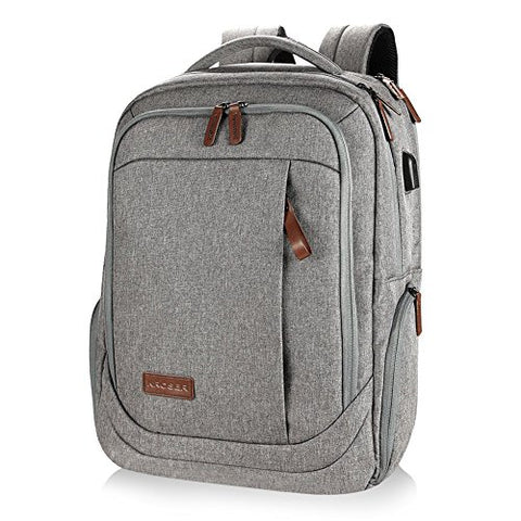 Kroser Laptop Backpack Water-Repellent Computer Backpack Fits Up To 17 Inch Laptop With Usb