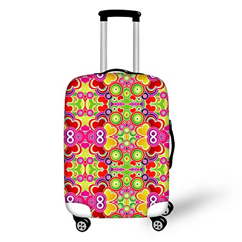 "Bigcardesigns Luggage Protective Covers for 26""-30"" Suitcase Elastic"