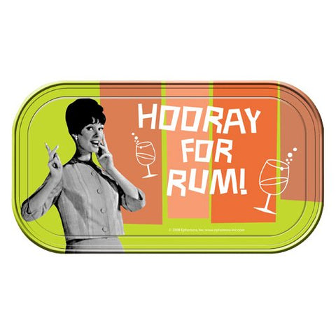 Retro Humor Hooray For Rum! Magnetic Mini Tin Sign