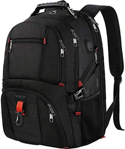 Large Laptop Backpack, TSA Friendly Durable Computer Backpack with USB Port for Men and Women,