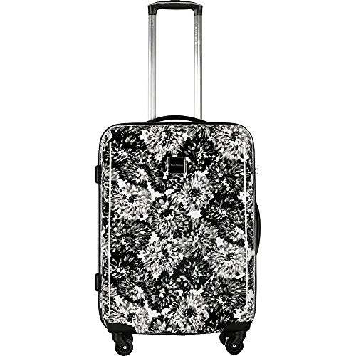 "Isaac Mizrahi Boldon 26"" Hardside Checked Spinner Luggage (Black White)"
