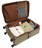 London Fog Cambridge 21 Inch Expandable Carry On, Olive