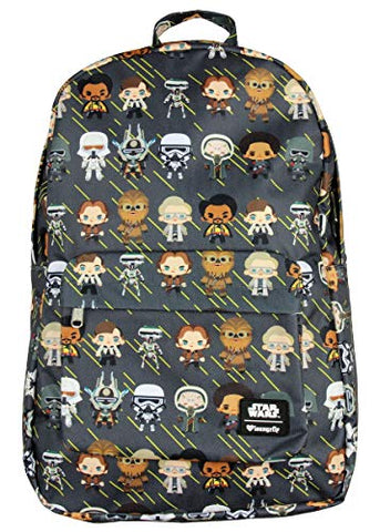 Loungefly x Star Wars Han Solo Chibi Character Print Backpack (One Size, Multi)