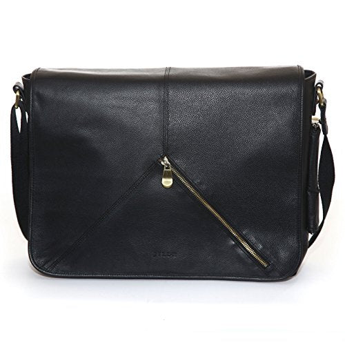 "Jill-e Designs Sasha 13"" Leather Laptop Bag, Black (419453)"
