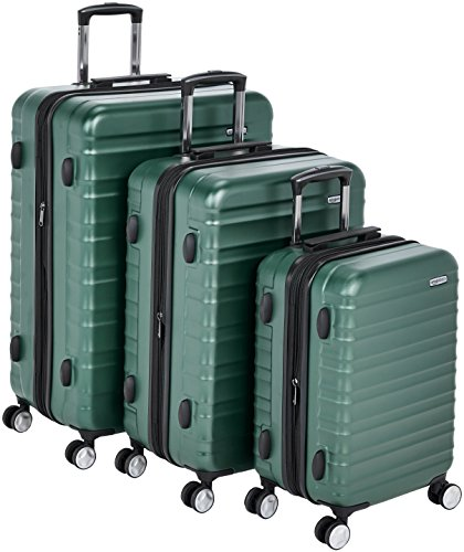 "Amazonbasics Premium Hardside Spinner Luggage With Built-In Tsa Lock - 3-Piece Set (20"", 24"", 28""),"