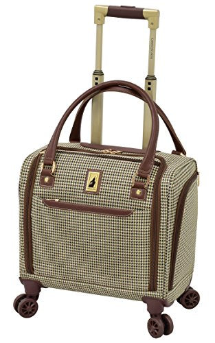 "London Fog Cambridge Ii 15"" 8 Wheel Under Seat Bag, Olive Houndstooth"