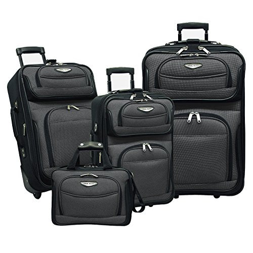 Traveler's Choice Amsterdam 4-Piece Luggage Set, Gray