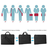 Lacdo 15.6 Inch Waterproof Fabric Laptop Shoulder Bag Notebook Sleeve Case Compatible Macbook Pro
