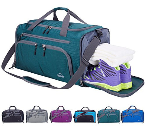 Venture Pal Packable Sports Gym Bag with Wet Pocket & Shoes Compartment Travel Duffel Bag for men