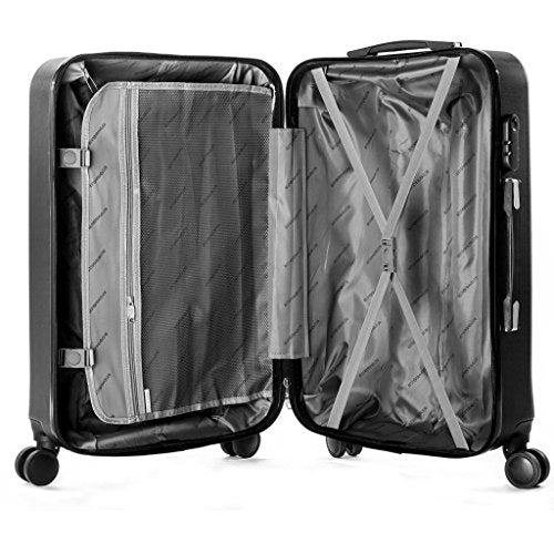 68a7e951ecff Hardside Spinner Luggage 4 Piece Abs Luggage Set Light Travel Case -16 20  24 28