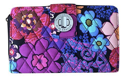 Vera Bradley Turn-Lock Wallet (One Size, Floral Fiesta)