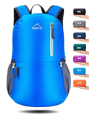 Venture Pal 25L Travel Backpack - Durable Packable Lightweight Small Backpack For Women Men (Blue)