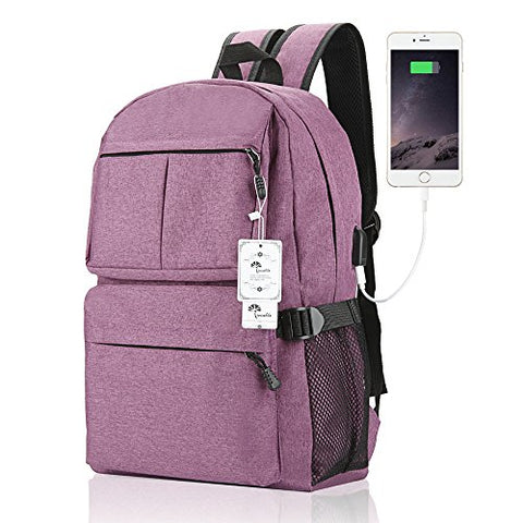 Laptop Backpack, Winblo 15 15.6 Inch College Backpack With Usb Charging Port Light Weight Travel