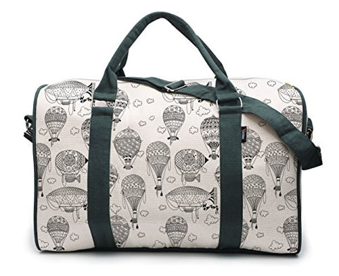 Airship And Clouds-2 Printed Oversized Canvas Duffle Luggage Travel Bag Was_42