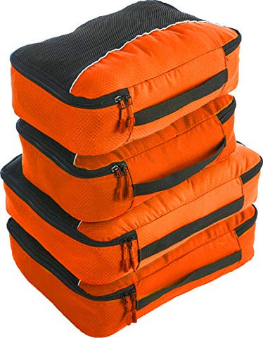 bago 4 Set Packing Cubes for Travel - Luggage & Suitcase Organizer - Cube Set