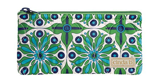 Cinda B Happy Zip Pouch, Verde Bonita, One Size