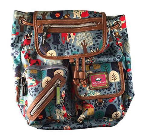 Lily Bloom Who Let The Dogs Out Riley Backpack with Adjustable Shoulder Straps and 5 Organizational Pockets