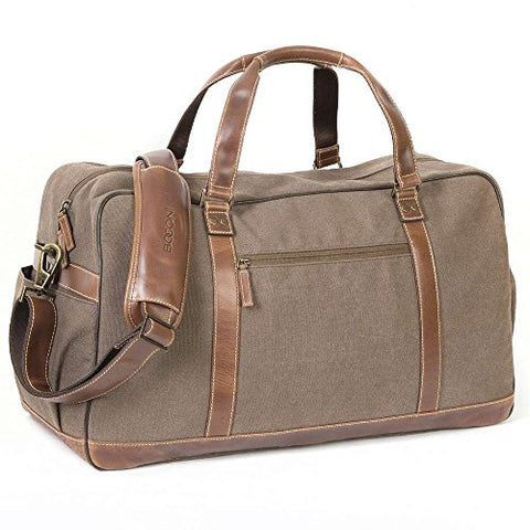 Boconi Bryant LTE Leather Getaway Duffel Bag in Mahogany