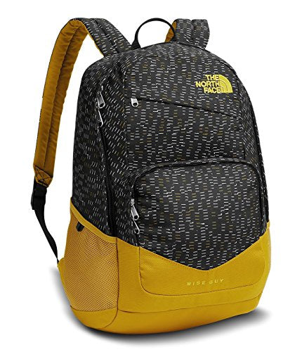 The North Face Wise Guy Backpack - Tnf Black Papercuts Print/Arrowwood Yellow - One Size
