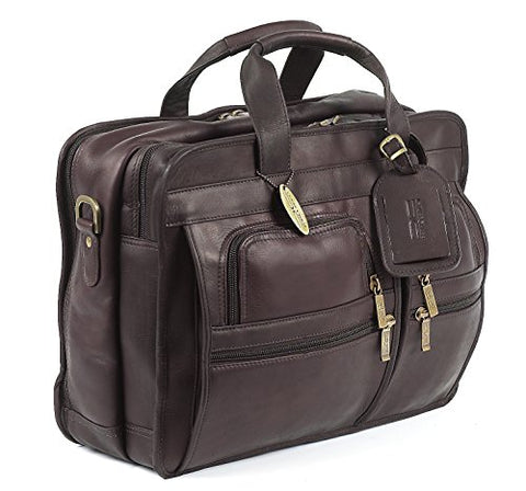 Claire Chase Executive Computer Briefcase, Cafe, One Size