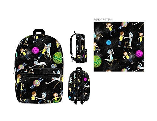 Rick And Morty Space Toss All Over Print Backpack
