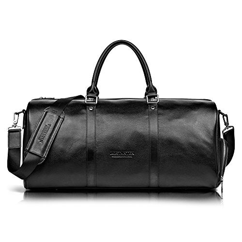 BOSTANTEN Genuine Leather Travel Weekender Overnight Duffel Bag Gym Sports Luggage Bags For Men