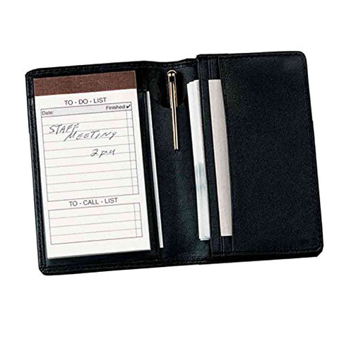 Royce Leather Deluxe Note Jotter Organizer,Black,One Size