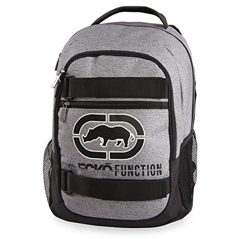 Ecko Unltd. Boys' Sk8 Laptop & Tablet Backpack-School Bag Fits Up to 15 Inch Laptop, Heather/Black One Size