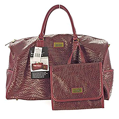 Nicole Miller New York 2 piece weekender bag set Burgundy
