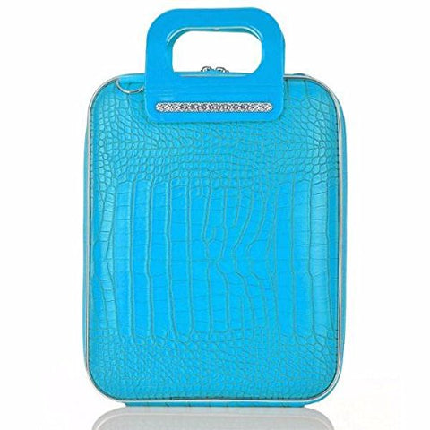 Bombata FG1111-22 Cocco Briefcase for 12 in. Laptop Siena by Fabio Guidoni - Turquoise