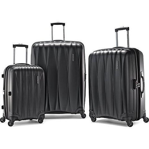 "American Tourister Arona Premium Hardside Spinner 3Pcs Luggage Set 20"" 25"" 29"" (Charcoal)"