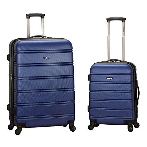 Rockland Luggage 20 Inch And 28 Inch 2 Piece Expandable Spinner Set, Blue
