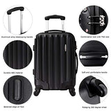 Durable 3 Pcs Luggage Sets, Hardshell Spinner Suitcase with TSA Approved Locks,Lightweight Carry on Suitcase