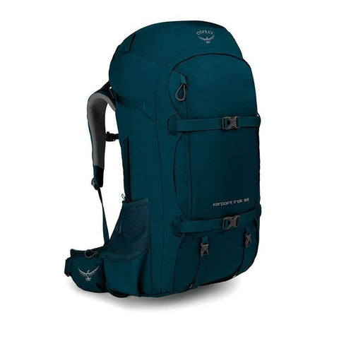 Osprey Packs Farpoint Trek 55L Travel Pack Petrol Blue, One Size