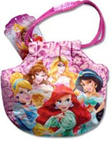 "Disney Princess 7"" Satin Handbag with Rope Handle"