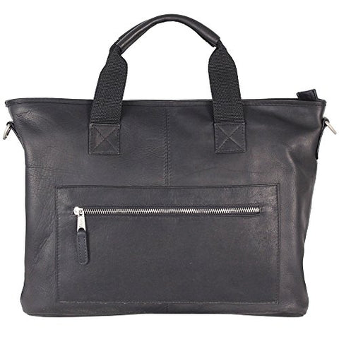Latico New Orleans Laptop Bried Briefcase,Black,One Size