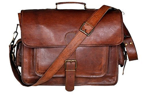 cuero 16 Inch Retro Buffalo Hunter Leather Laptop Messenger Bag Office Briefcase College Bag