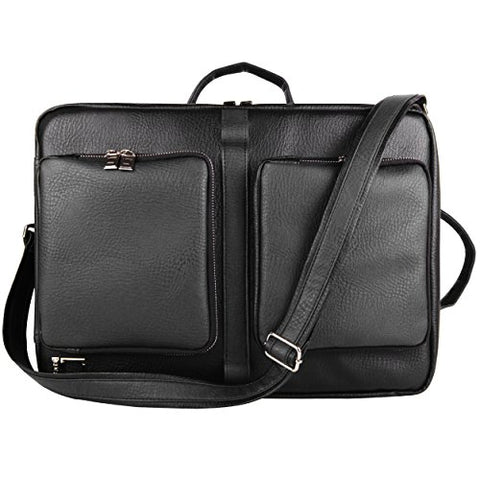 Lencca Quadra Messenger Bag & Backpack For Microsoft Surface Book 13.5 Inch Laptops, Black